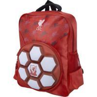 Mochila Liverpool Futebol & Magia Logo 3D - Infantil - Vermelho