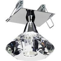 Plafon Embutido 3011 Cromo Para 1 Lâmpada