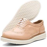 Sapato Oxford Casual Conforto Q&A 300 Nude