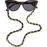 Corrente De Óculos Higher Chanel Dourado