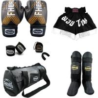 Kit Boxe Muay Thai Fheras Top Completo - Unissex