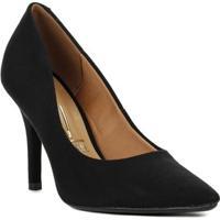 Sapato Salto Vizzano - Feminino-Preto