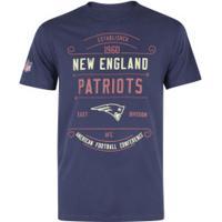 Camiseta New Era New England Patriots Modern Cool - Masculina - Azul Escuro