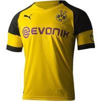 Camisa Borussia Dortmund Home 18/19 S/N° - Torcedor Puma Masculina - Masculino