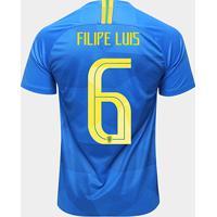 9155b4d3f Netshoes  Camisa Seleção Brasil Ii 2018 Nº 6 Filipe Luis - Torcedor Nike  Masculina - Masculino