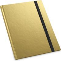 Caderneta De Anotações 9,7X14,5Cm 80 Folhas Topget Pautadas - Dourado