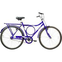 Bicicleta Mega Barra Aro 26 Freio V-Break Quadro Aço Mega Bike - Unissex