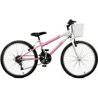 Bicicleta Master Bike Aro 24 Feminina Serena Plus 21 Marchas Rosa