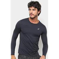Camiseta Manga Longa Asics Core Running Pa Masculina - Masculino-Preto