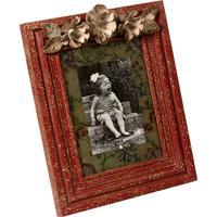 Porta Retrato De Madeira Fiori Vintage Decorativo Com Detalhe De Metal