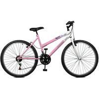 Bicicleta Master Bike Aro 26 Feminina Emotion 18 Marchas Rosa E Branco