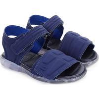 Sandália Papete Infantil Bibi Velcro Masculina - Masculino-Azul