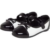 Sapato Ortopasso Infantil Love Preto/Branco