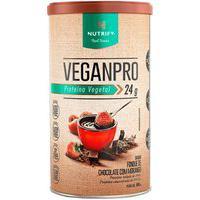 Proteína Vegetal Veganpro Sabor Fondue De Chocolate Com Morango Nutrify 550G