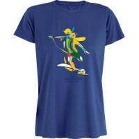 Camiseta Adams Básica Futebol - Feminina - Azul - Chute Copa América 2019 - Azul