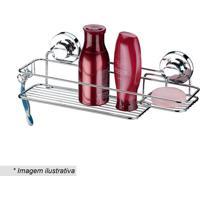 Suporte Para Shampoo & Sabonete- Prateado- 51,2X20X1Future