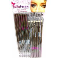 Lápis Para Olhos C/ Apontador Bella Femme 12 Unidades Marrom