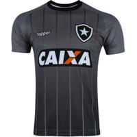 Camisa De Treino Do Botafogo Comissão Técnica 2018 Topper - Masculina -  Cinza Escuro 934e770dfb24e