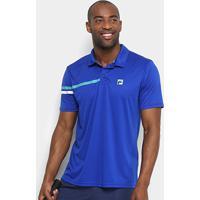 Camisa Polo Fila Bands Masculina - Masculino-Azul Royal