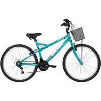 Bicicleta Lazer Caloi Florença Aro 26 - Com Cesto Freio V-Brake 21 Velocidades - Verde