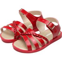 Sandália Pimpolho Menina Verniz Vermelha