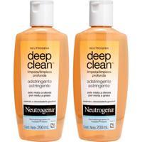 Kit Com 2 Adstringentes Neutrogena Deep Clean 200Ml