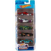 Carrinhos Hot Wheels Pack Com 5 Track And Builder - Mattel - Kanui