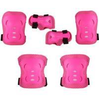 Kit Proteção P/ Skate E Patins Bel Sports - Unissex-Rosa