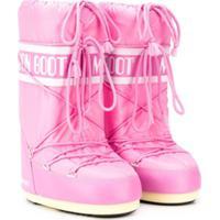 Moon Boot Kids Teen Logo Snow Boots - Rosa