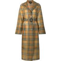 Burberry Trench Coat Xadrez - Brown