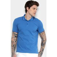 Camisa Polo Ellus Asa Frisos Classic Masculina - Masculino-Azul Claro