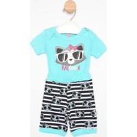 Pijama Guaxinim - Azul Claro & Cinzapuket