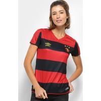 Camisa Sport Recife I 19/20 S/Nº Torcedor Umbro Feminina - Feminino