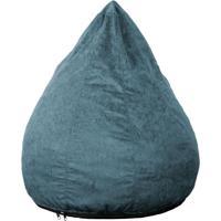 Puff Confort Pera Suede Azul 90 Cm