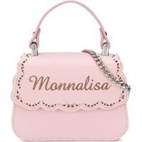 Monnalisa Bolsa Tiracolo Com Logo - Rosa