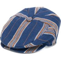 Colorichiari Striped Baker Style Cap - Azul