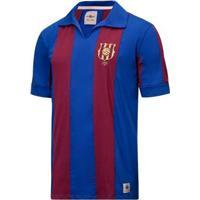 Camisa Barcelona Retrô 1889 Masculina - Masculino-Azul