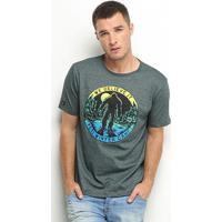 Camiseta Hd Winter Camp Masculina - Masculino-Verde