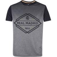 Camiseta Real Madrid Mescla Gradiente - Masculina - Cinza/Preto