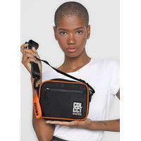 Bolsa Colcci Fitness Camera Bag Preto/Laranja