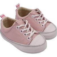 Tênis Infantil Couro Catz Calçados Noody Cadarço - Unissex-Rosa Claro