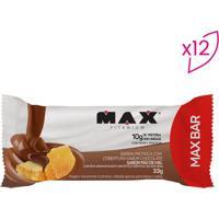 Barra Proteica Max Bar - Pão De Mel - 12 Unidades