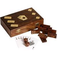 Jogos - Tabuleiro 3X1, Dados, Dominó E Cartas