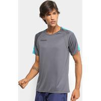 ... Camiseta Kappa Mangui 2.0 Raglan Masculina - Masculino-Chumbo+Azul 15f88433ec976