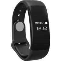 Pulseira Inteligente Fitness Com Monitor Cardíaco Atrio Es174 - Preto