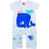 Macacão Curto Marinheiro Get Baby Azul