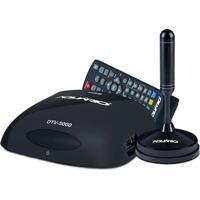 Conversor E Gravador Digital Aquário + Antena Interna Dtv-5100 Preto