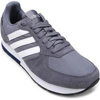 Tênis Adidas 8K Masculino - Masculino-Branco+Preto