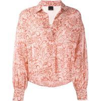 Pinko Blusa Com Estampa Flora - Rosa