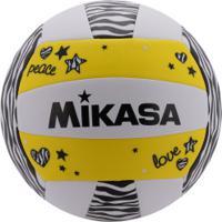 Bola De Vôlei Mikasa Vxs Zb - Branco/Amarelo
